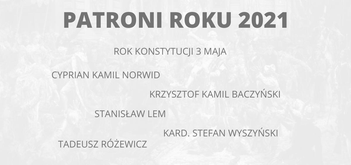 Patroni roku 2021 - Zespół Szkół Ponadpodstawowych w Sępólnie Krajeńskim